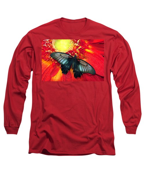 Butterfly Long Sleeve T-Shirt by Tam Ryan
