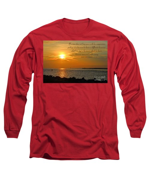 180- Henry David Thoreau Long Sleeve T-Shirt by Joseph Keane
