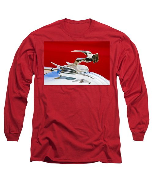 Long Sleeve T-Shirt featuring the photograph 1931 Chrysler Coupe Hood Ornament by Jill Reger