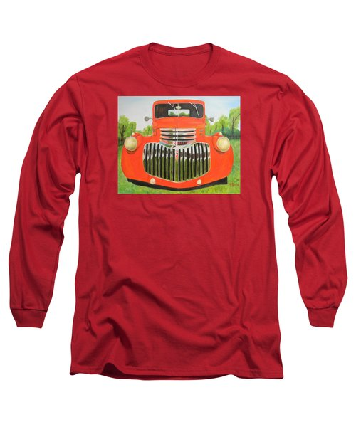 1946 Red Chevy Truck Long Sleeve T-Shirt