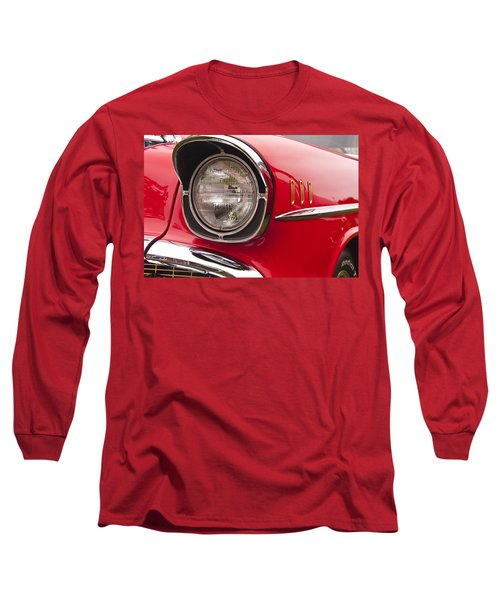 1957 Chevrolet Bel Air Headlight Long Sleeve T-Shirt