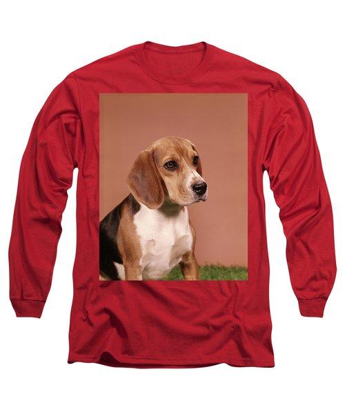 1960s Portrait Of Beagle Dog Long Sleeve T-Shirt
