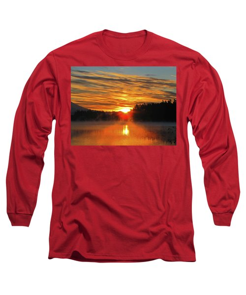 Long Sleeve T-Shirt featuring the photograph American Lake Sunrise by Tikvah's Hope