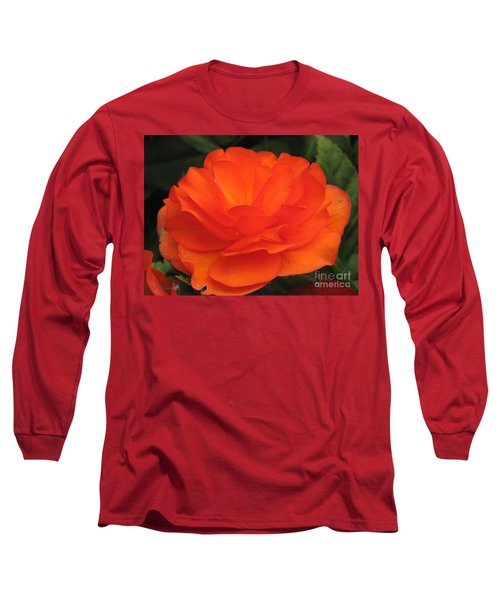 Begonia Named Nonstop Apricot Long Sleeve T-Shirt by J McCombie