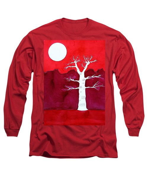 Canyon Tree Original Painting Long Sleeve T-Shirt by Sol Luckman