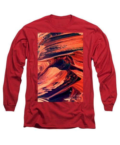 Long Sleeve T-Shirt featuring the painting Catalyst by Jacqueline McReynolds