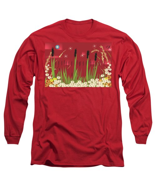 Cattails Long Sleeve T-Shirt by Kim Prowse