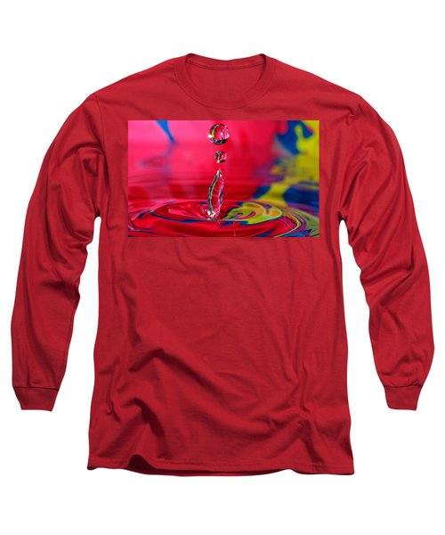 Colorful Water Drop Long Sleeve T-Shirt