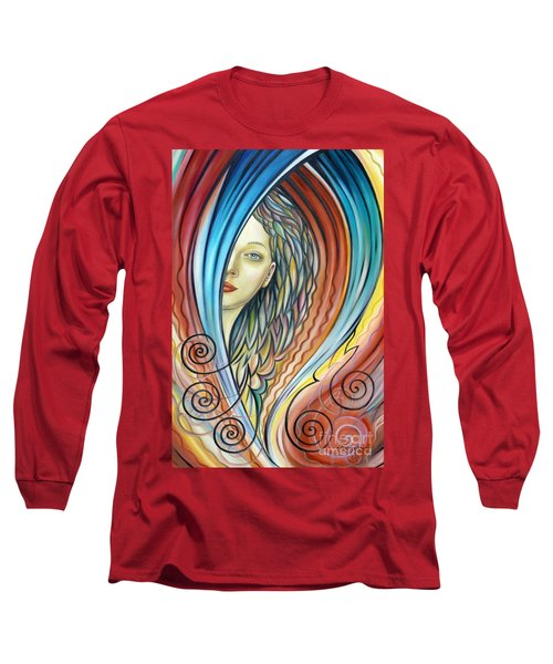 Illusive Water Nymph 240908 Long Sleeve T-Shirt by Selena Boron