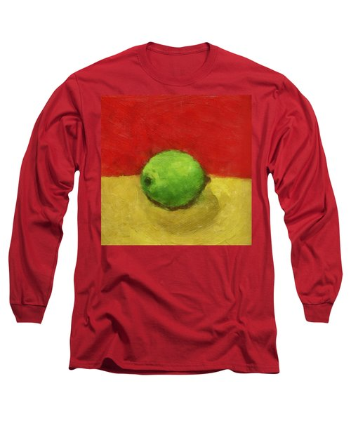 Lime With Red And Gold Long Sleeve T-Shirt