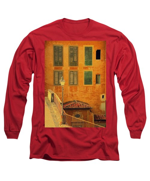 Long Sleeve T-Shirt featuring the photograph Medieval Windows by Caroline Stella