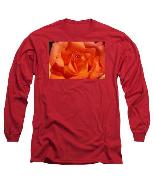Long Sleeve T-Shirt featuring the photograph Orange Rose 1 by Rudi Prott