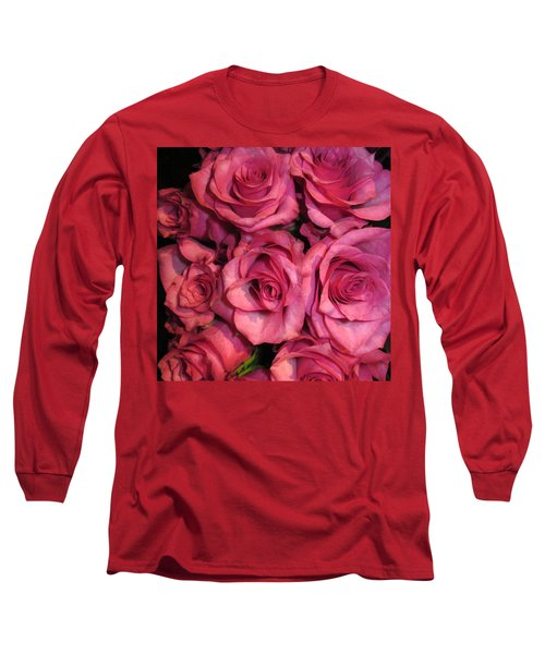 Rosebouquet In Pink Long Sleeve T-Shirt