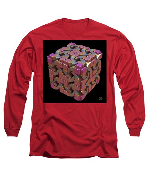 Spiral Box IIi Long Sleeve T-Shirt by Manny Lorenzo
