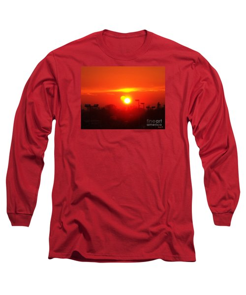 Sunset Long Sleeve T-Shirt by Jasna Dragun