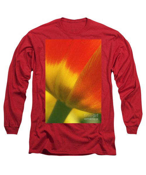 Long Sleeve T-Shirt featuring the photograph Tulip Close Up 2 by Rudi Prott