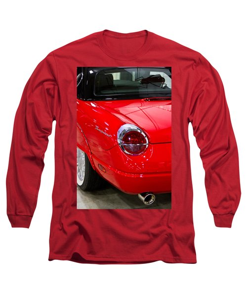 2002 Red Ford Thunderbird-rear Left Long Sleeve T-Shirt