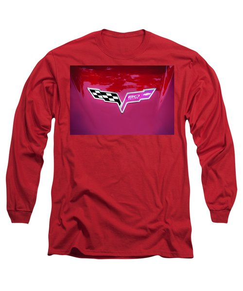 2013 Corvette 60th Anniversary Hood Logo Painted Long Sleeve T-Shirt