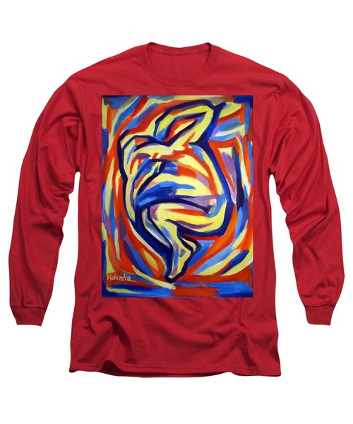 Long Sleeve T-Shirt featuring the painting Here by Helena Wierzbicki