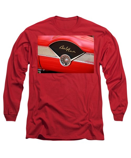 Vintage Long Sleeve T-Shirt featuring the photograph '56 Bel Air by Aaron Berg