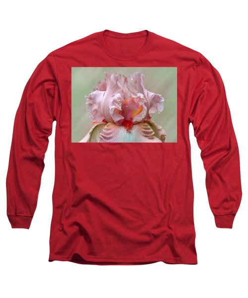 Pink Electrabrite Bearded Iris Long Sleeve T-Shirt