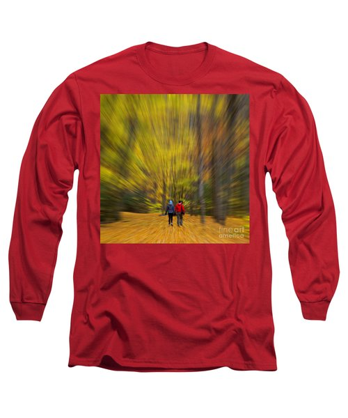A Fall Stroll Taughannock Long Sleeve T-Shirt by Jerry Fornarotto