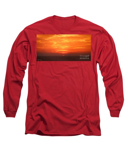 A Final Splash Of Color Long Sleeve T-Shirt by Mariarosa Rockefeller