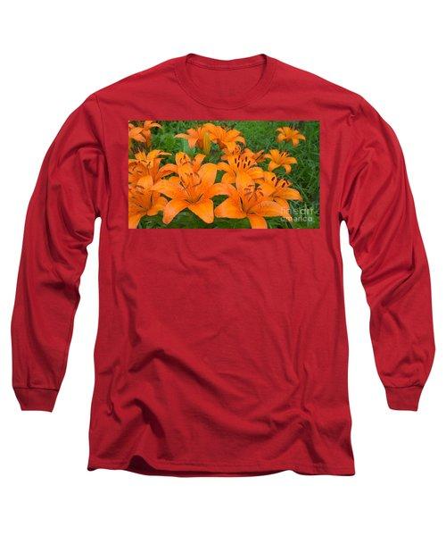 A Garden Full Of Lilies Long Sleeve T-Shirt