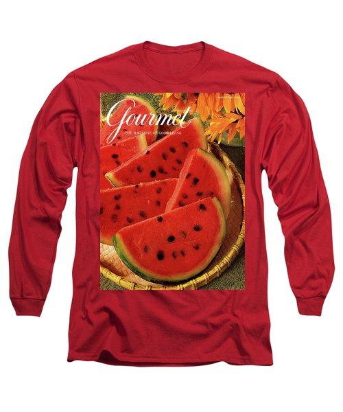 A Gourmet Cover Of Watermelon Sorbet Long Sleeve T-Shirt