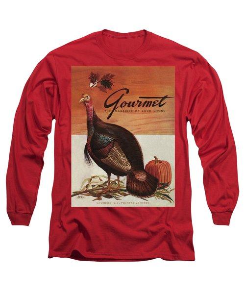 A Thanksgiving Turkey And Pumpkin Long Sleeve T-Shirt