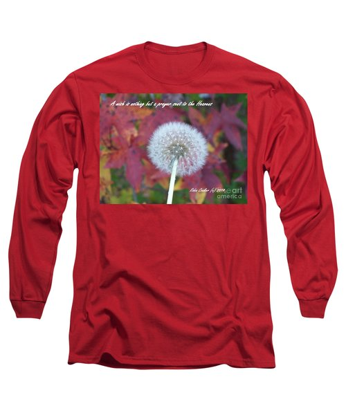 Long Sleeve T-Shirt featuring the photograph A Wish For You by Robin Coaker
