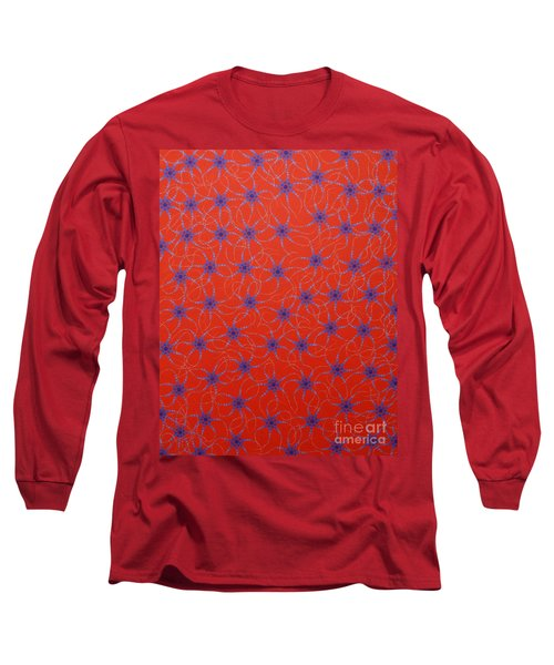 Long Sleeve T-Shirt featuring the painting Aboriginal Inspirations Collection 3 by Mariusz Czajkowski