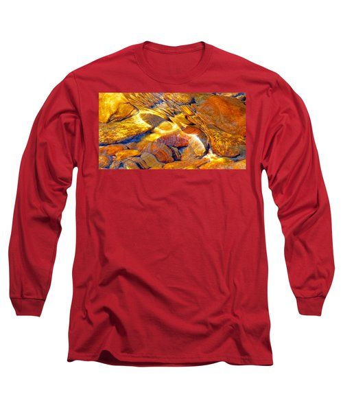 Abstract Creek Water 4 Long Sleeve T-Shirt