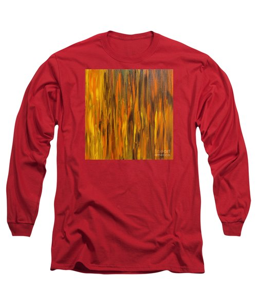 Abstract Fireside Long Sleeve T-Shirt by Susan  Dimitrakopoulos