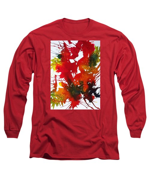 Abstract - Riot Of Fall Color II - Autumn Long Sleeve T-Shirt by Ellen Levinson