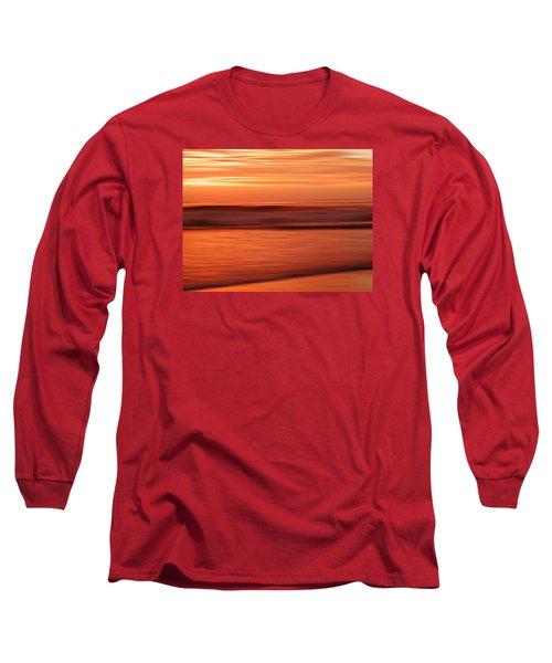 Abstract Seascape At Sunset Long Sleeve T-Shirt