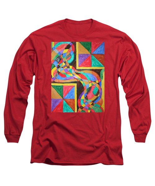 Long Sleeve T-Shirt featuring the painting Alien By Windows by Stormm Bradshaw