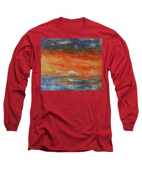 Abstract Sunset  Long Sleeve T-Shirt by Jane See