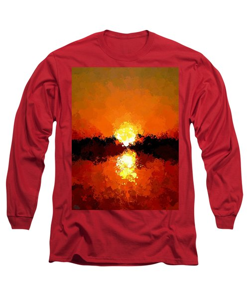 Abstract Sunset On The Sea Long Sleeve T-Shirt