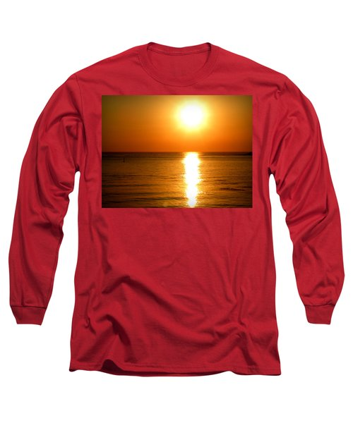 Long Sleeve T-Shirt featuring the photograph Aegean Sunset by Micki Findlay