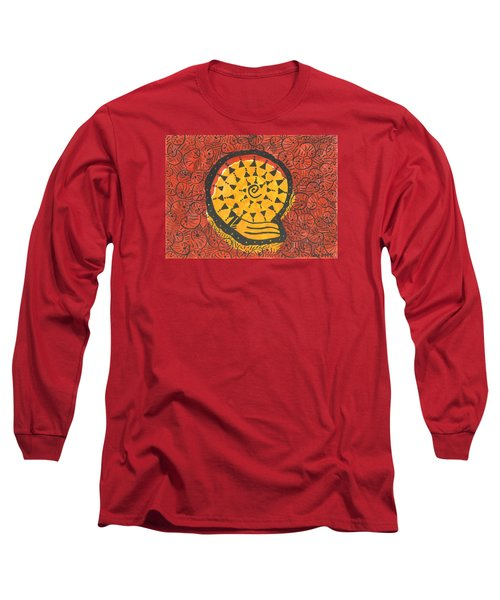 African Shell Pattern Long Sleeve T-Shirt