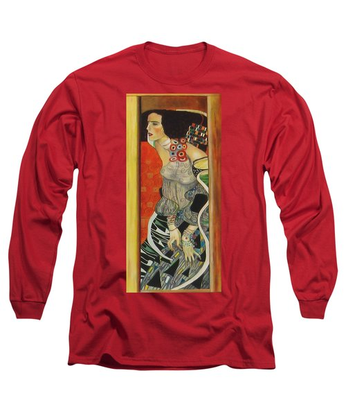 After Gustav Klimt Long Sleeve T-Shirt by Sylvia Kula