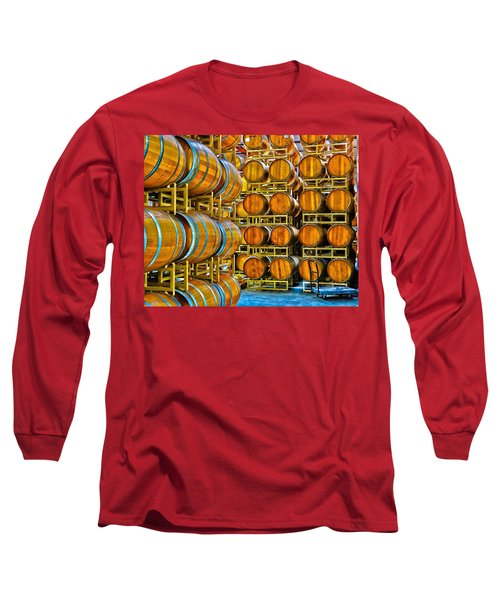 Aging Wine Barrels Long Sleeve T-Shirt