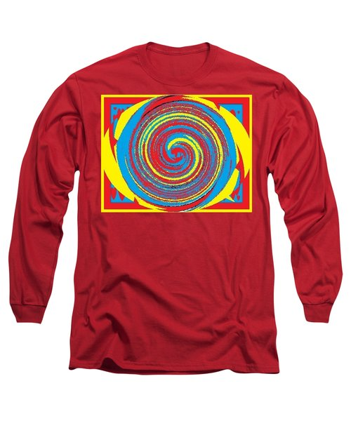 Long Sleeve T-Shirt featuring the digital art Aimee Boo Swirled by Catherine Lott