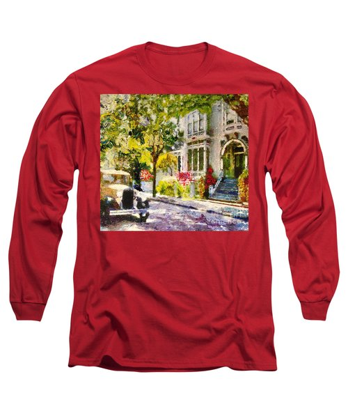 Alameda  Afternoon Drive Long Sleeve T-Shirt by Linda Weinstock