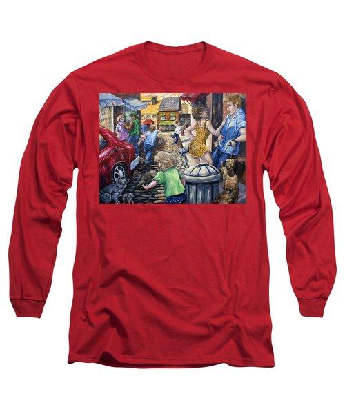 Alley Catz Long Sleeve T-Shirt by Gail Butler
