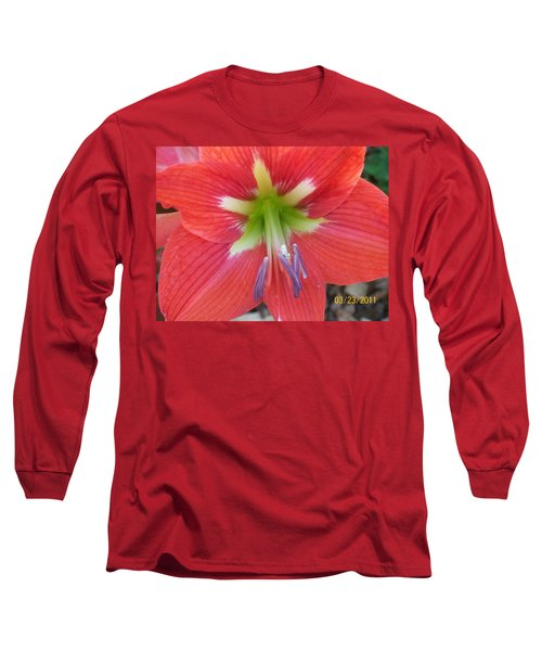 Long Sleeve T-Shirt featuring the photograph Amarylis by Belinda Lee