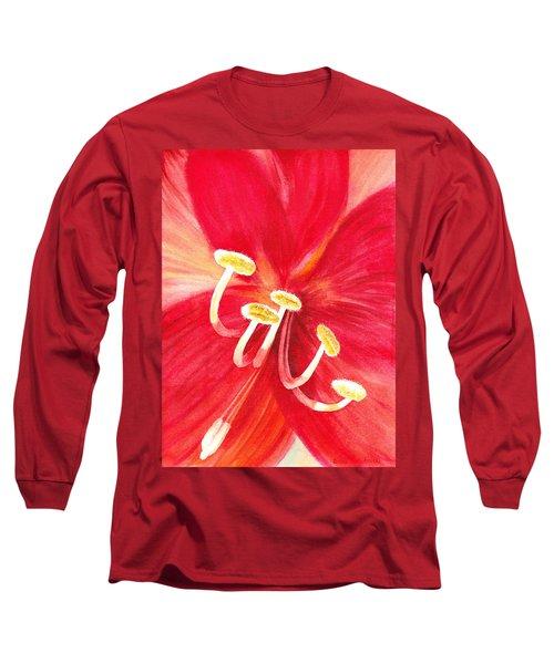 Amaryllis Flower Long Sleeve T-Shirt