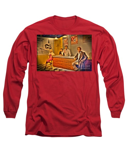 American Cinema Icons - 5 And Diner Long Sleeve T-Shirt