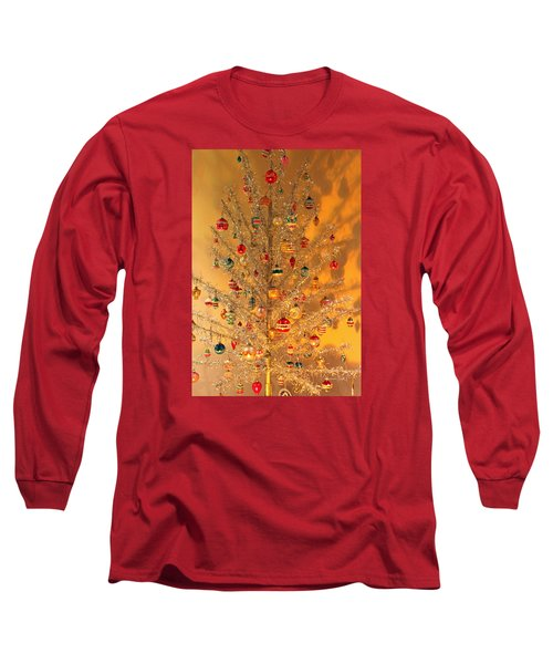 An Old Fashioned Christmas - Aluminum Tree Long Sleeve T-Shirt by Suzanne Gaff